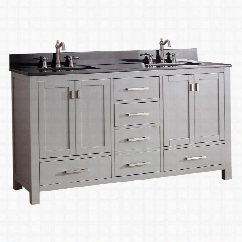 Avanity MODERO-VS60-CG Modero 60-in. Double Bathroom Vanity Marble Beige Top
