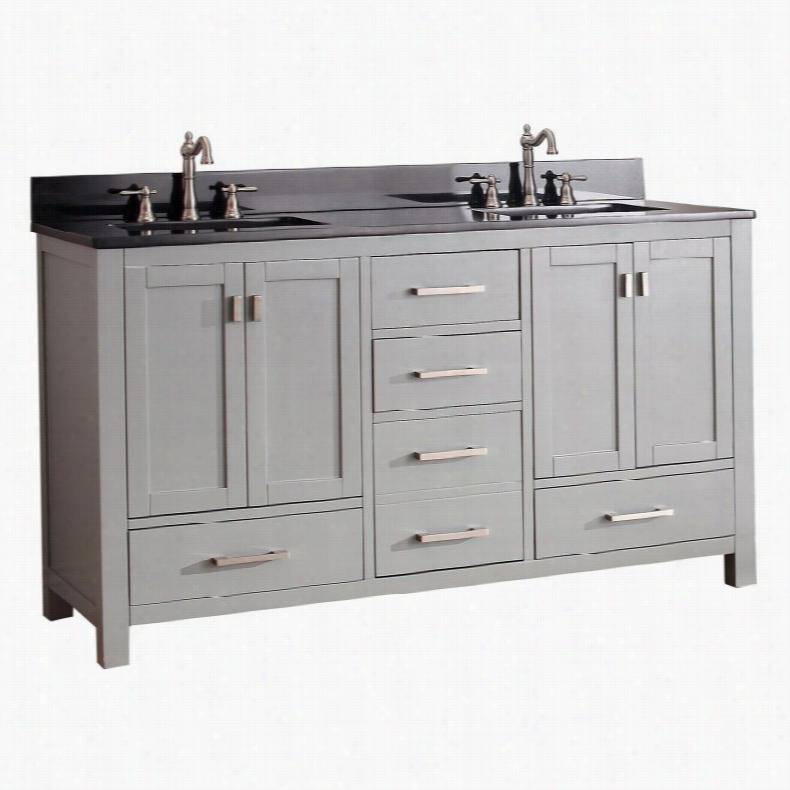 Avanity MODERO-VS60-CG Modero 60-in. Double Bathroom Vanity Marble Beige Top