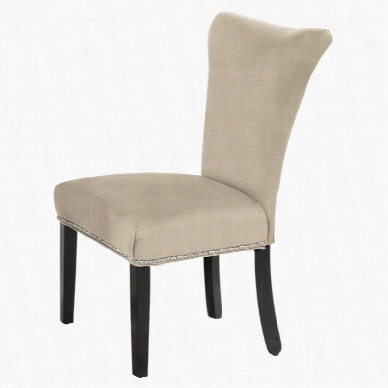 Bassett Mirror Dining Parson Chair Gray