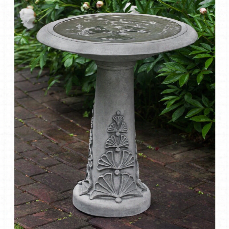 Campania International Fandango Pedestal Bird Bath