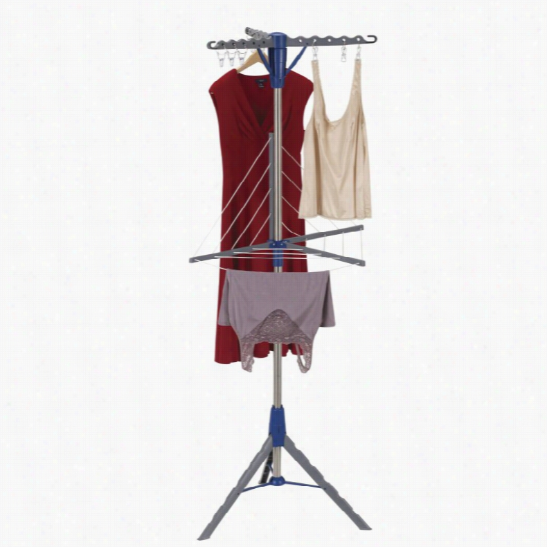 Household Essentials 2-Tier Tripod Dryer with Clothesline