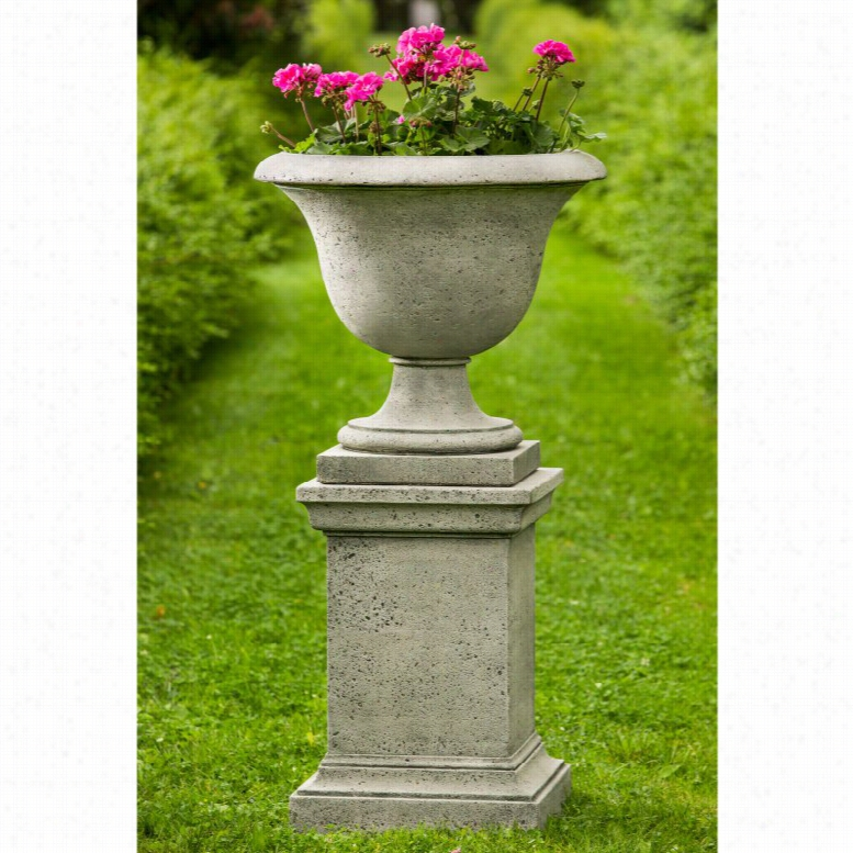 Campania International Fairfield Urn Planter with Pedestal