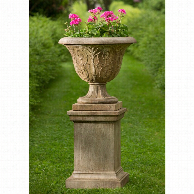 Campania International Palais Arabesque Urn Planter with Pedestal