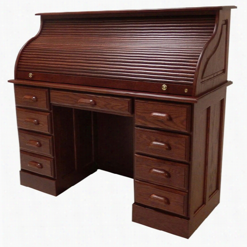 Haugen Customizable Roll-Top Double Pedestal Desk