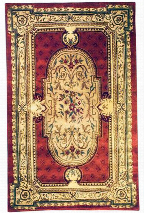 "Aubusson I Area Rug - 9'6""X13'6"", Red"