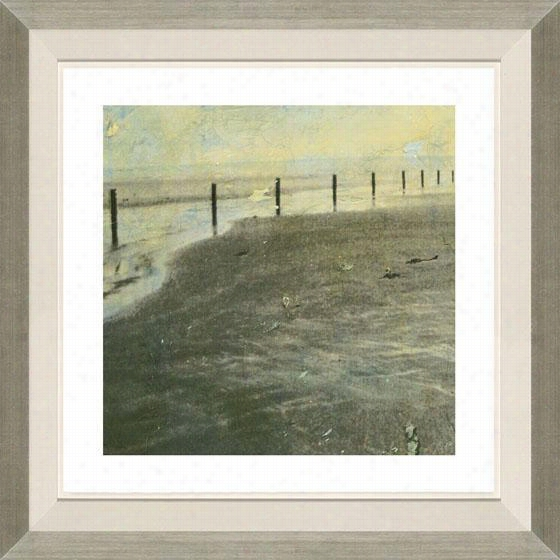 Beach Series I Framed Wall Art - I, Floated Silver