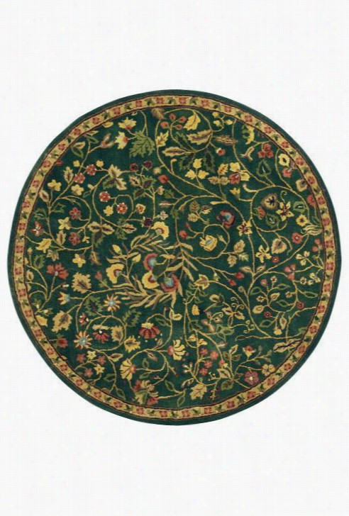 "Bishop Area Wool Rug - 3'6""X5'6"", Green"