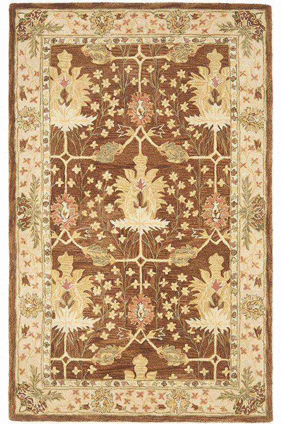Bishop Area Wool Rug - 6'X9', Brown