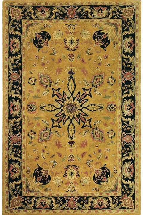 "Chamberlain Area Wool Rug - 2'6""X4'6"", Gold"