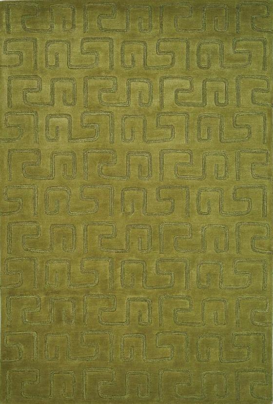 """Geoglyph Area Rug - 7'6""""X9'6"""", Green"""