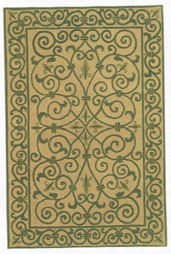 Irongate Area Rug - 8' Round, Gold