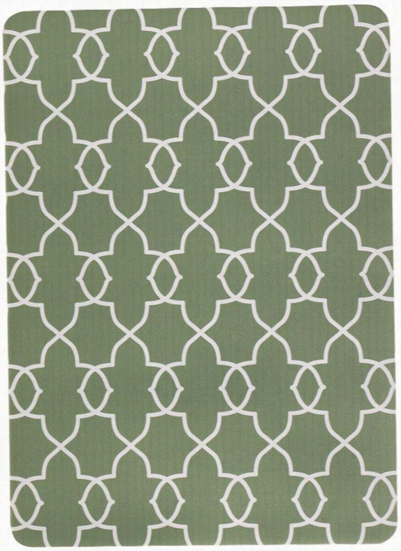 "Juliette Doormat - 1'10""X4'4"", Sage Kitchen Rugs"