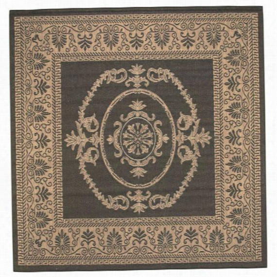 Medallion All-Weather Outdoor Patio Patio Area Rug/Carpet- Home Decor All-Weather Outdoor Patio Rugs