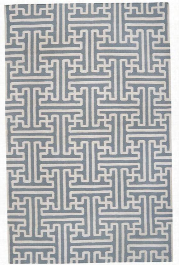 Puzzle Area Rug Ii - 5'X8', Slate Gray