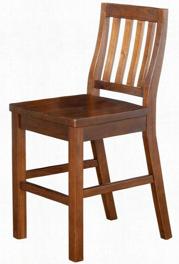 """Sandford Counter Stool - 41.5""""Dx19.25""""W, Distressed Chestnut"""