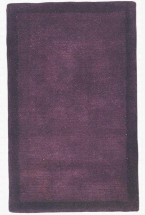 "Solomono I Area Rug - 2'9""X14' Runner, Purple"
