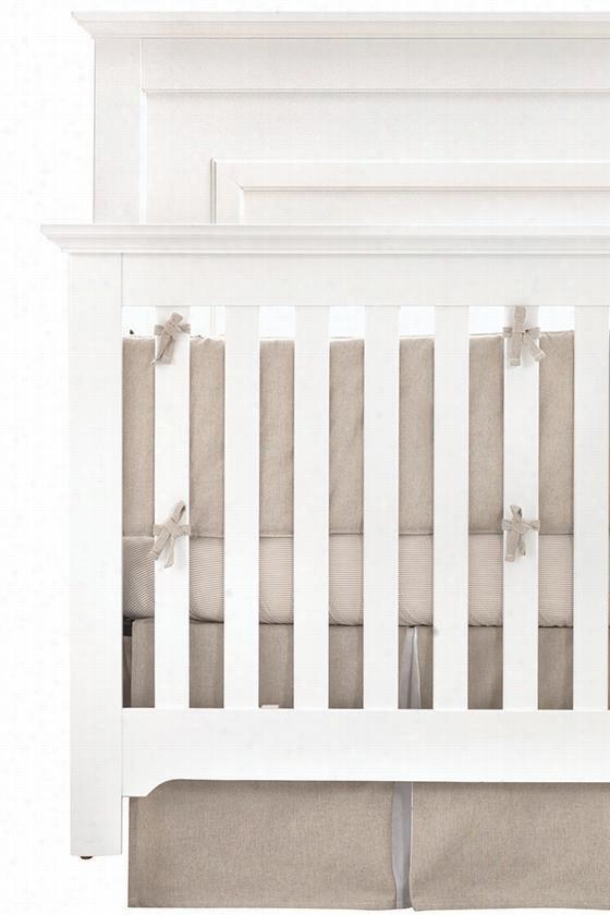 Finn Baby Crib Skirt - Baby Crib Skirt, Beige
