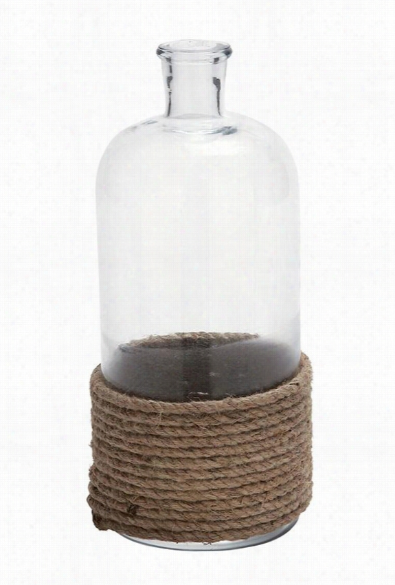 Hampton Bottle With Rope - Small, Clear With Rope