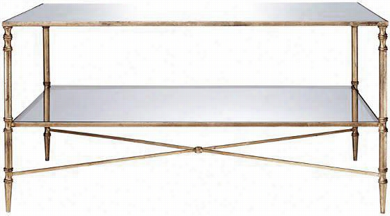 "Liam Coffee Table - 19""Hx38""W, Gold"
