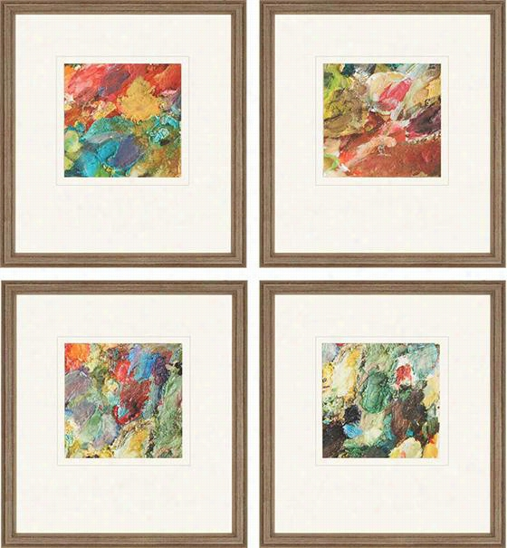 "Palette Wall Art - Set Of 4 - 19""Hx17""Wx1""D, Bobby Sikes"