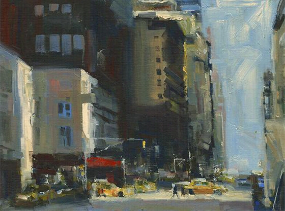 "Taxis Bathing In Sunlight Wall Art - 16""Hx20""Wx1""D, Darren Thompson"