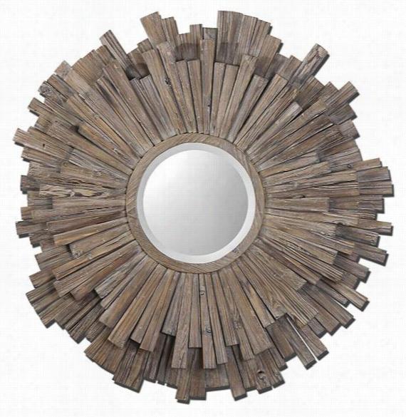 "Vermundo Wall Mirror - 43""Diameterx3""D, Ivory"