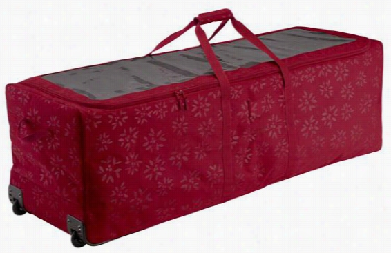 "Christmas Tree Storage: Christmas Tree Rolling Duffel Bag - 17.5""Hx17.5""W, Red"