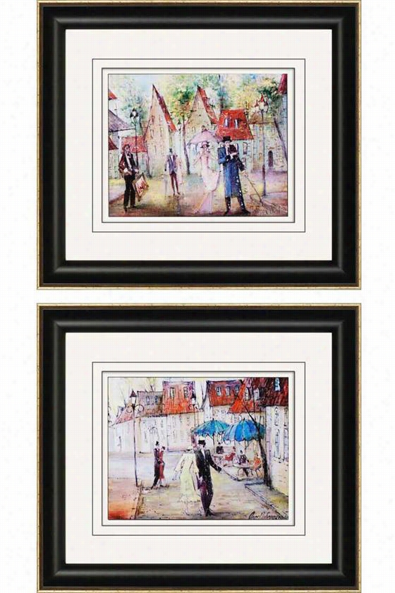 European Street Wall Art - Set Of 2 - Set Of 2, Oleg Poberezhnyi