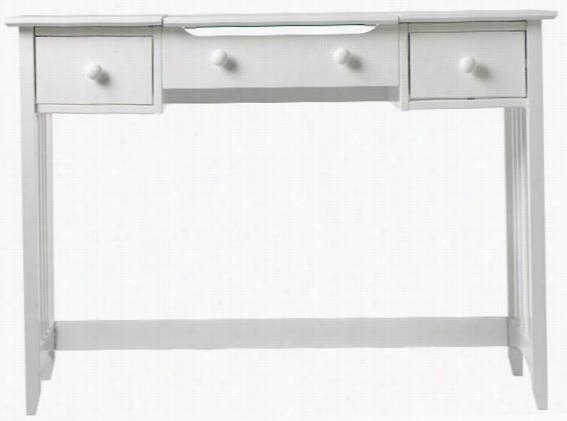 "Hawthorne Slatted Vanity With Mirror - 32""Hx44""W, White"