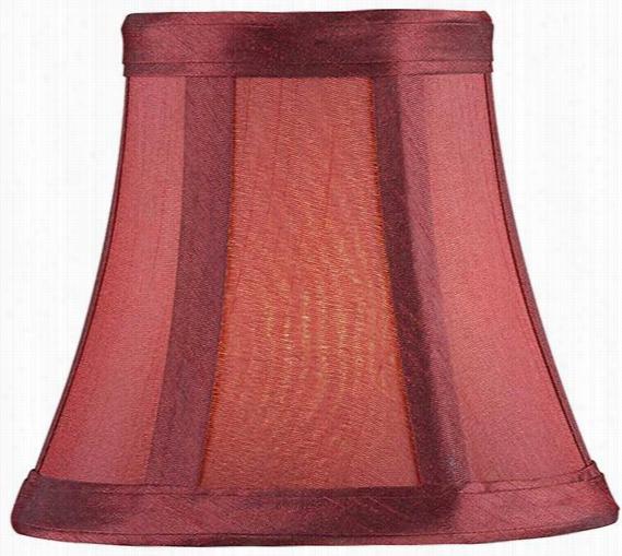 """Silk Chandelier Shade - 4.5""""Hx5""""Diameter, Red"""