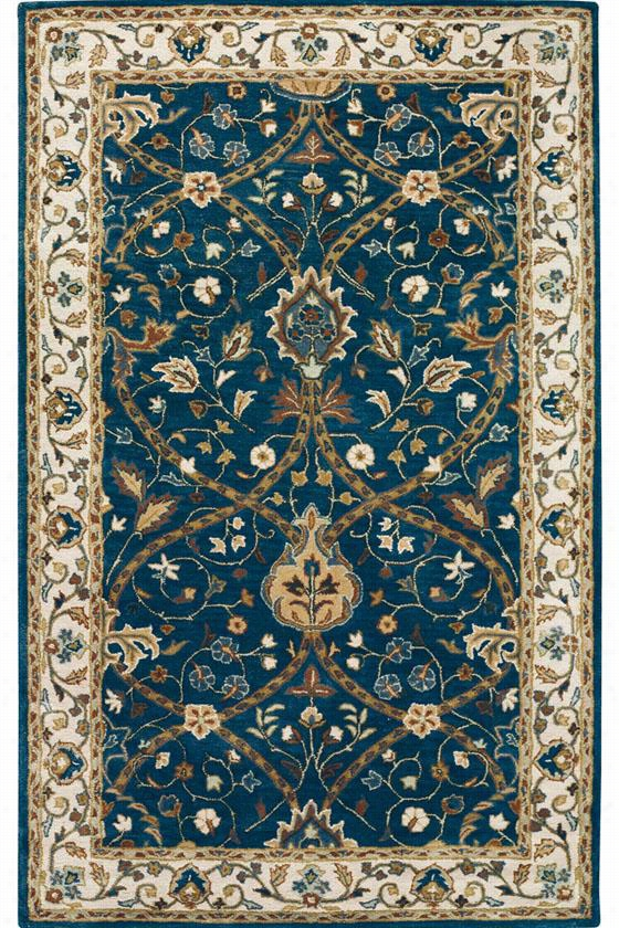 "Anatole Area Rug - 9'9""X13'9"", Deep Blue"