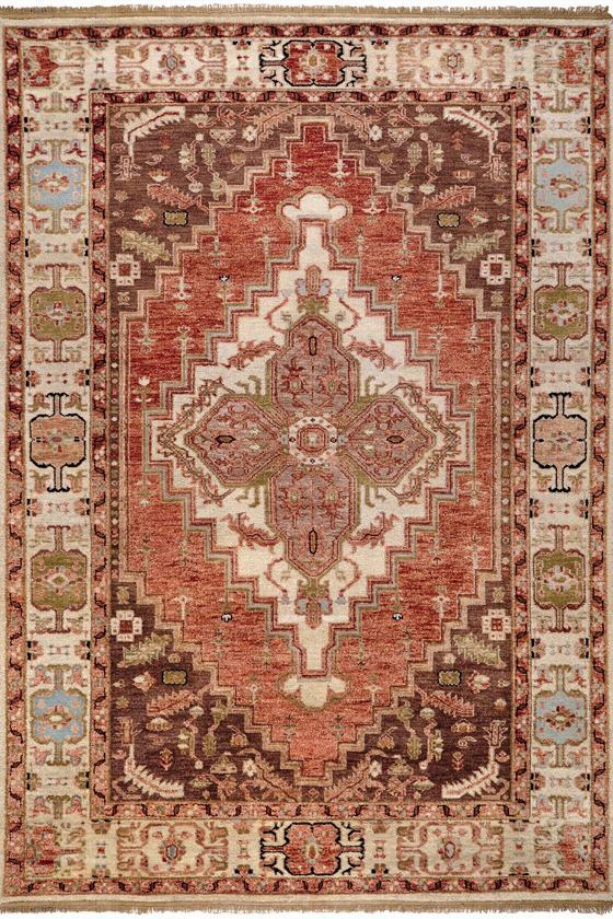 Cathedral Area Rug - 9'X13', Cinnamon