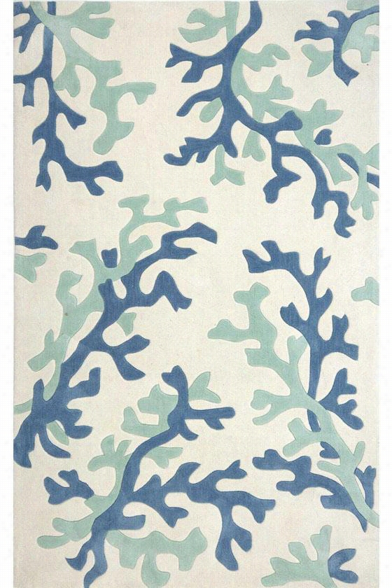 "Coral Area Rug - 7'6""X9'6"", White"