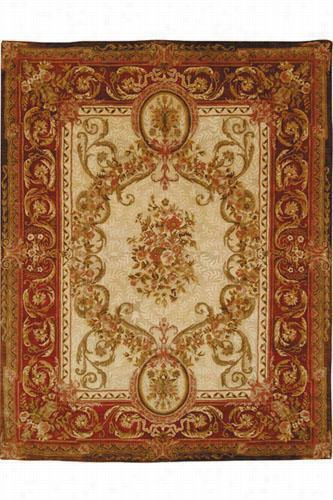 Louis Xvi Area Rug - 4'X6', Gold