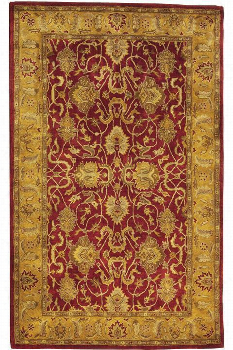 "Rochelle I Area Rug - 7'6""X9'6"", Red"