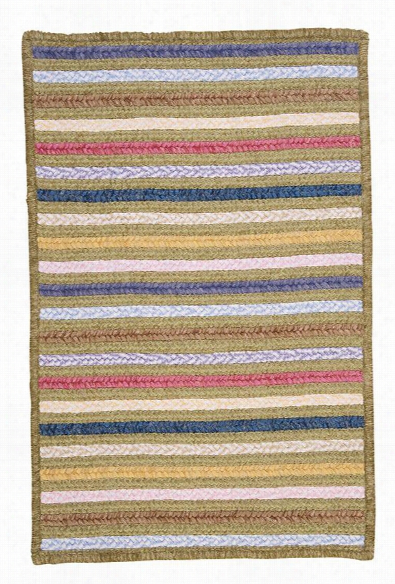 Seascape Rectangular Braided Area Wool Rug