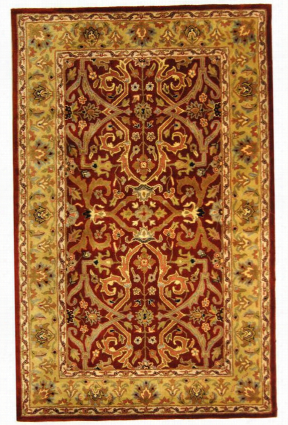 "Thames Ii Area Rug - 9'6""X13'6"", Red"
