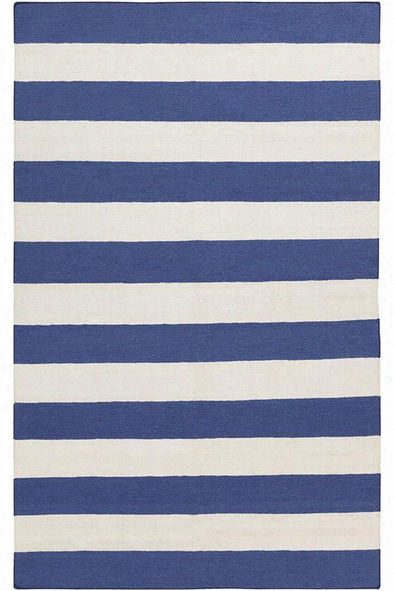 Victor Wool Area Rug - 8'X11', Navy Blue