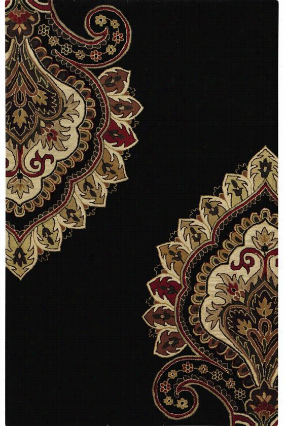 "Amour Area Rug - 9'9""X13'9"", Black"