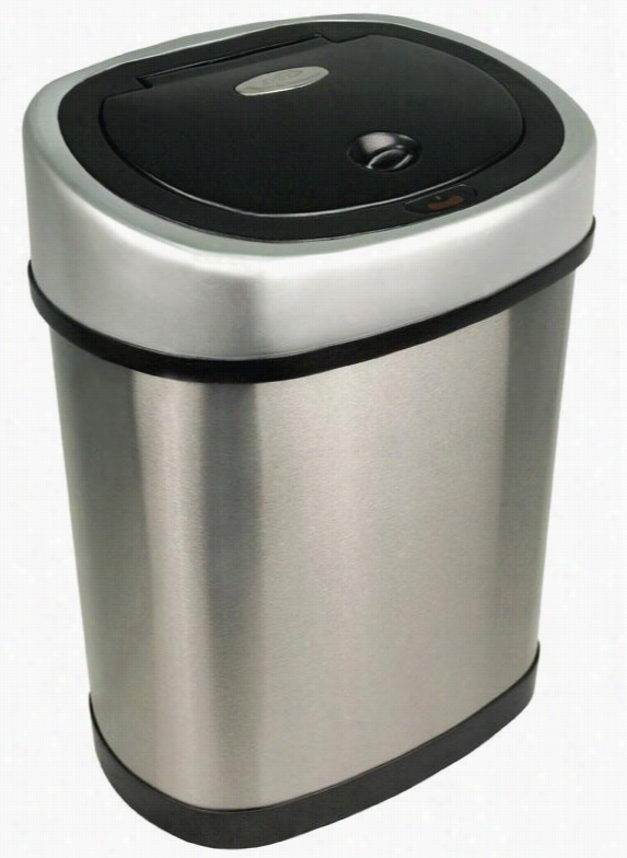 Bathroom Motion Detector Trash Can - 3.2 Gallon, Brushed Stainless