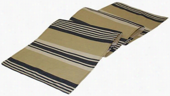 "Cabana Stripe Table Runner - 54""Hx12""W, Blue"