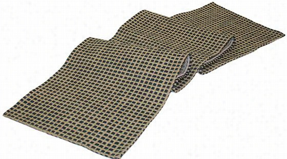 "Grid Table Runner - 54""Hx12""W, Blue"