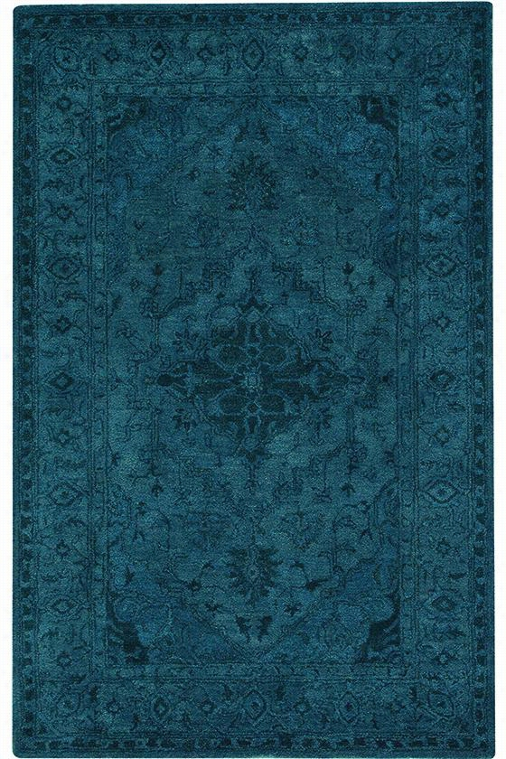 Kingdom Wool Area Rug - 2'6X8'runner, Blue