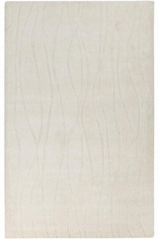 Volos Hand-Carved Area Rug - 5'X8', White