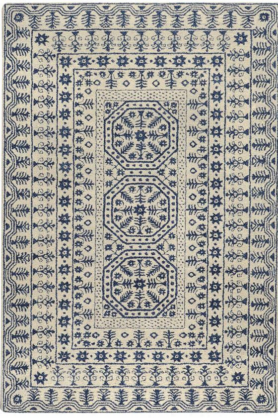 Appalachian Area Rug Ii - 5'X8', Navy Blue