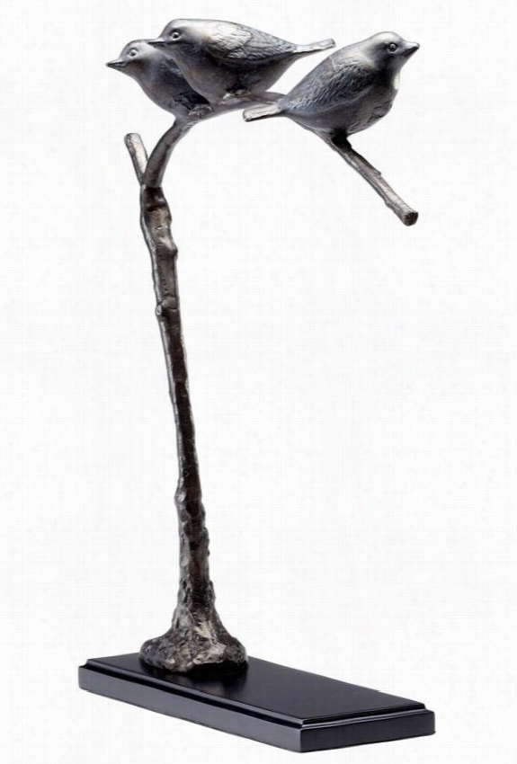 "Birds On A Limb - 17""Hx14""Wx4""D, Bronze"
