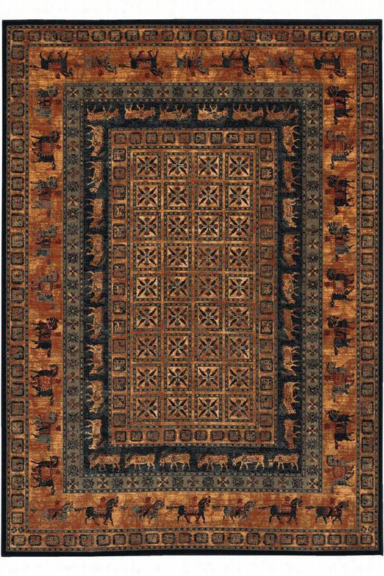 "Couristan Pazyrk Design Area Rug - 9'10""X13'9"", Brown"