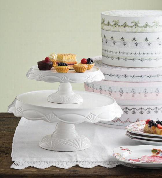 "Le Gateau Cake Pedestal - 5.5""Hx13.25""D, White"