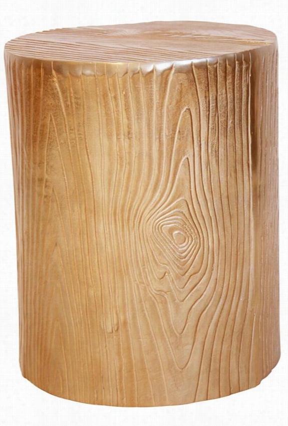 """Macarthur Pedestal - 20""""Hx16""""Diameter, Wood Grain"""