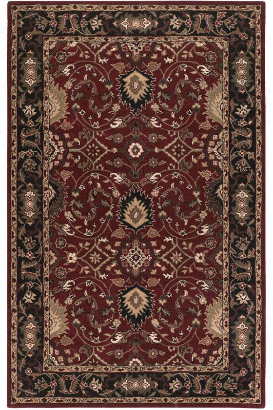 Valencia Area Rug - 9'X12', Red